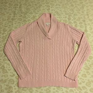 Charter club pink cable knit sweater